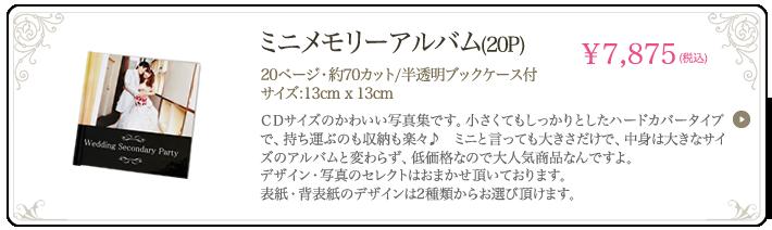ミニメモリーアルバム(20P)